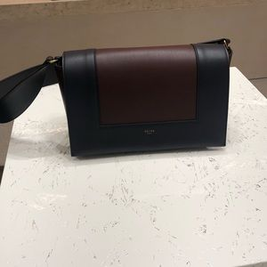 Celine Bags - Celine frame bag burgundy navy leather bag classic 69370a2207b46